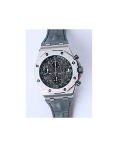 Royal Oak Offshore 2014 Gray Theme Gray Leather JF A3126 V2