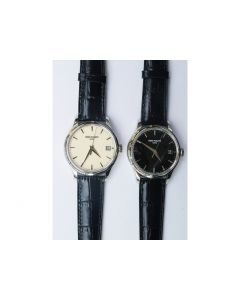 Calatrava 5227 Black & White Dial Leather Strap 324CS ZF