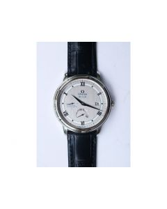 De Ville Prestige Real Power Reserve Blue Markers Gray Dial Leather Strap MIYOTA 9015 ZF