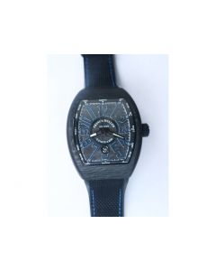 Vanguard Automatic Carbon Black/Blue Carbon Dial on Black Nylon Strap NH35A