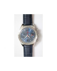 Speedmaster 閳?7 Chronograph AXF Leather Blue A7750
