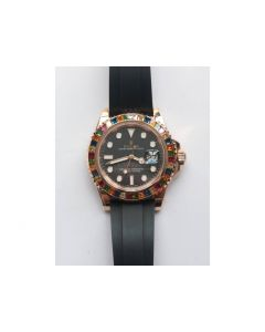 Yacht-Master 40 116695SATS 1:1 Best Edition on Black Rubber Strap A2836 (Free Extra Strap) Noob