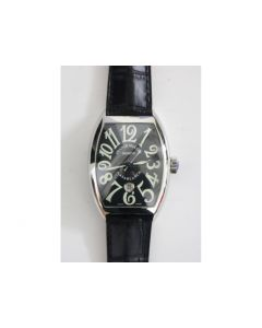 Casablanca SS  1:1 Best Edition Black Dial on Black Leather Strap A2824 TW