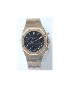 Royal Oak Chronograph RG Black Textured Dial RG Bracelet A7750