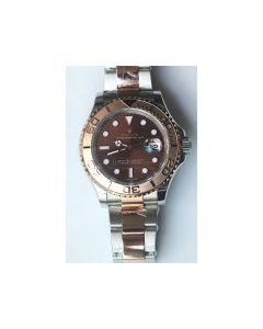 Rolex YachtMaster 116622 18K Rose Gold Wrapped Two Tone Brown Dial Bracelet BP SW2836