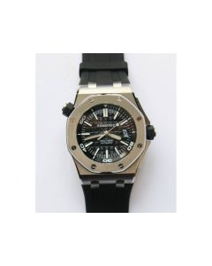 Royal Oak Offshore Diver 15703 V9.5 1:1 Best Edition Black Dial on Rubber Strap JF A2824