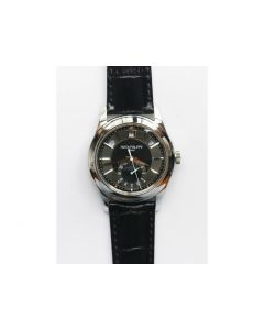 COMPLICATIONS SERIES Moonphase SS Black Dial Black Leather Strap Cal.324 KMF