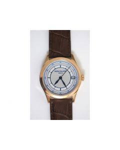 Calatrava 5296 RG Blue Dial Leather 324SC