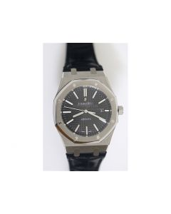 Royal Oak 41mm 15400 Black & White Dial Leather JF A3120 V5
