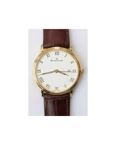 Villeret 6651 YG 1:1 Best Edition White Dial Brown Leather Strap A1151 ZF