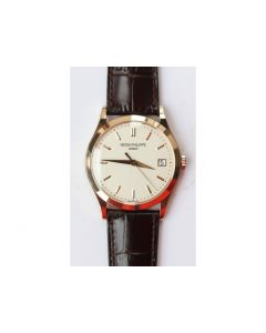 Calatrava 5296R RG 1:1 Best Edition Ivory Dial On Brown Leather Strap 324CS (Free box) ZF
