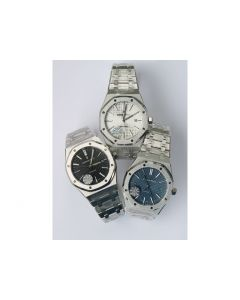 Royal Oak 41mm 15400 White & Black & Blue Dial Bracelet JF A3120 V5