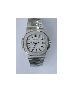 Nautilus Jumbo 5711 Super Replication White Textured Dial Bracelet PPF324