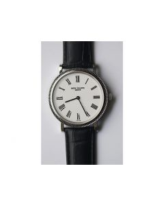 Calatrava Automatic White Dial Black Leather SF A240