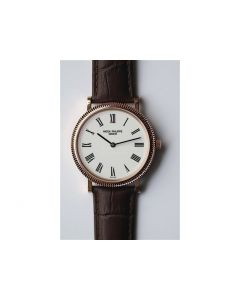 Calatrava Automatic RG White Dial Brown Leather SF A240